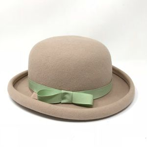 Vintage Bollman Hat Company Bowler Hat Beige Sz S